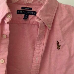 Women's Polo button down, pink